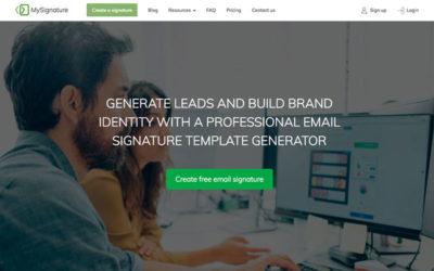 MySignature : un outil gratuit pour créer une signature mail